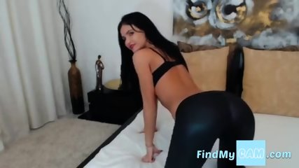 Sexy Raven Haired Milf Teases