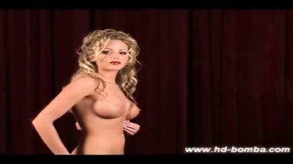 Blonde Jenna pussy dildo fucks - scene 9