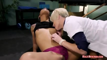 Nasty Doctor Plays With Her Female Slave