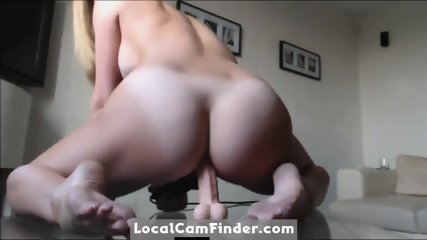 Anal dildo ride with an orgasmic vibrator- bonus