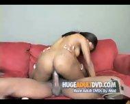 Phat ass ebony rides a cock