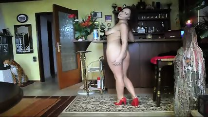ANAMARIA STRIPPING TO GET HIS DICK - scene 10