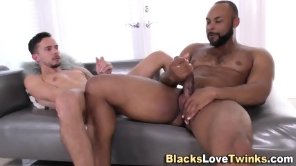 Blacked Dude Takes Cum