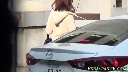 Kinky japanese teens pee