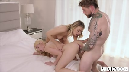 VIXEN Kenna James Gets Dominated By Natalia Starr And Her Boyfriend