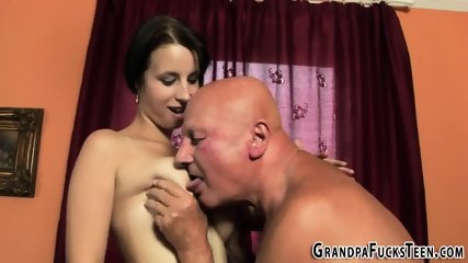 Teen gets gramps jizz