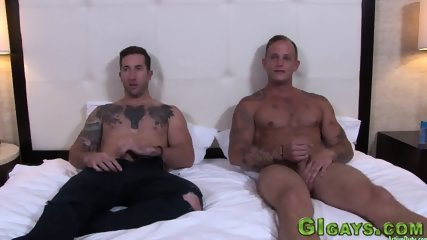 Hunky soldiers cumming