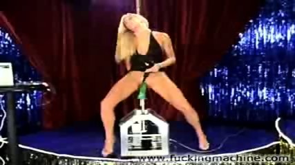 Hot blonde stripper dancing and toying - scene 12