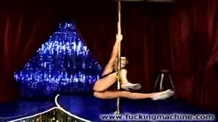 Hot blonde stripper dancing and toying - scene 1