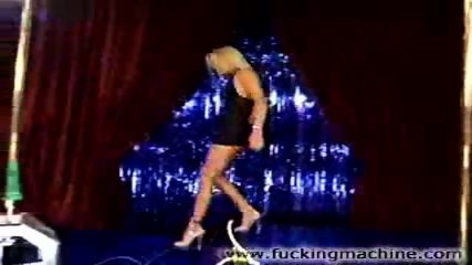 Hot blonde stripper dancing and toying - scene 6