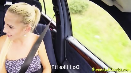 Euro hitchhiker gets pussy pounded POV
