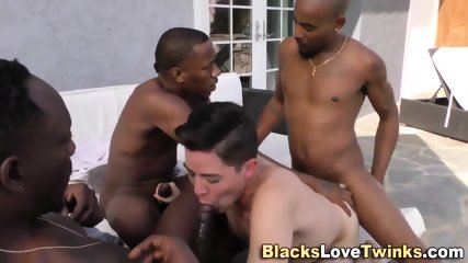 Twink Gets Group Fucking