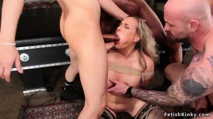 Big tits wife fucking five strangers