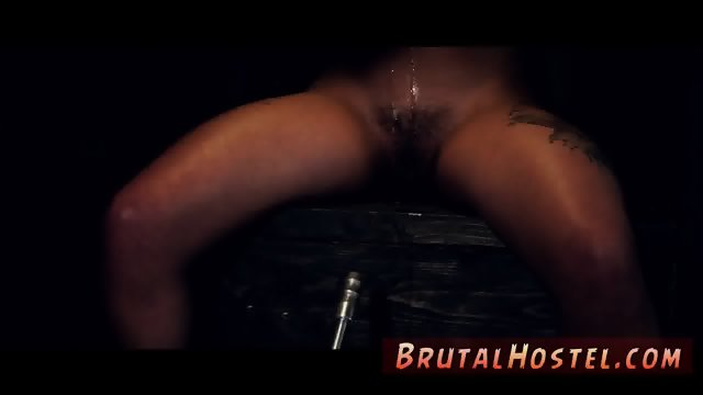 Big dildo extreme and bondage anal fisting A tornado of positions and white pearly