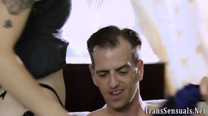 Tiny tgirl gets facial