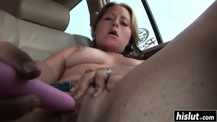 Sweet girl plays with a long dildo