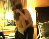 Two sexy lesbians kissing - scene 2