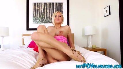 Blonde slut pov sucking