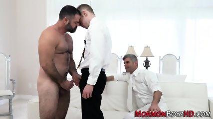 Uniformed mormon spunked