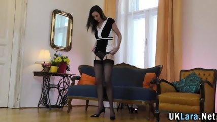 Brit milf in stockings