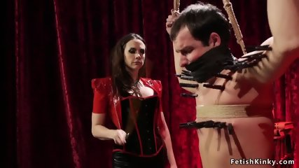 Mistress zippers and anal fucks sub