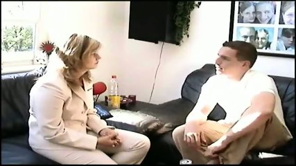 German girl having fun - scene 1