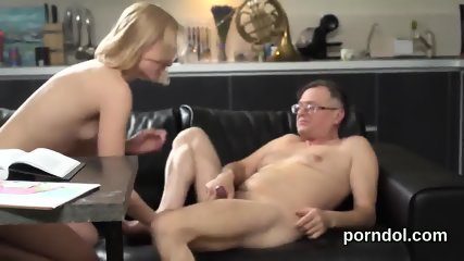 Natural college girl is seduced and banged by elder instructor