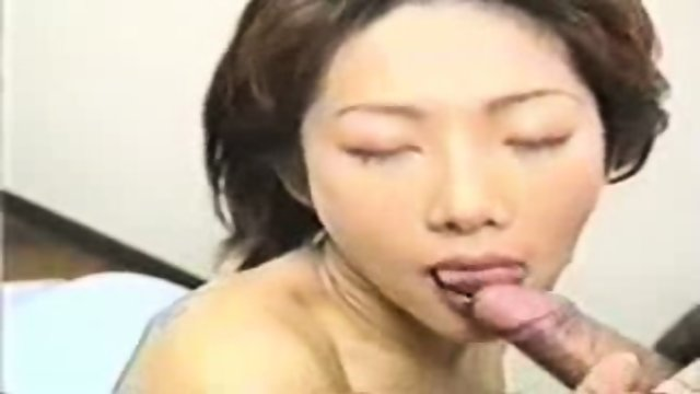 Asian babe having fun