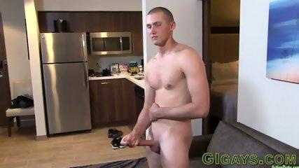 Military straighty masturbates