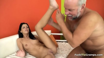 Grandpa Fucks a Dark-haired Cutie