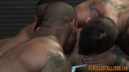 Black by assfucked inked jock muscular hunk the message