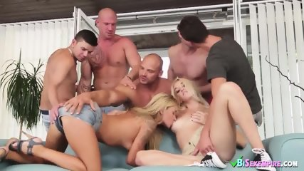 Summertime orgy with blondes