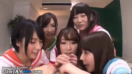 Japanese Perv Schoolgirls Fuck Their Teacher