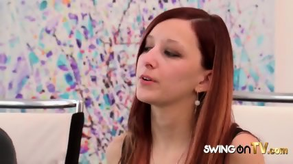 Spoiled swinger babe about to get her cookie sprinkled with cum