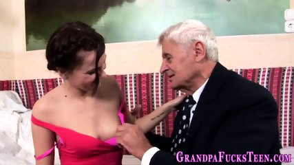 Teen sucks old pervs rod