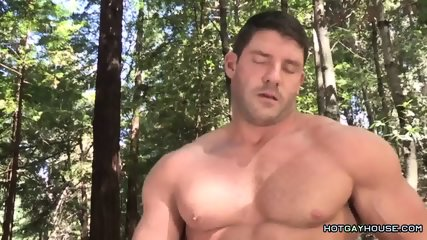 Muscular lumberjack fucks a guy