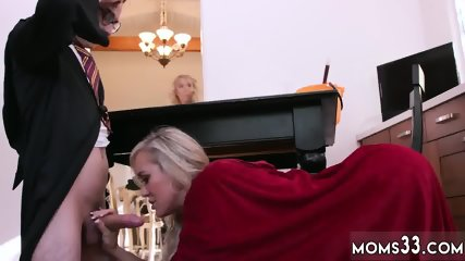 Naughty teacher milf Halloween Special With A Threesome