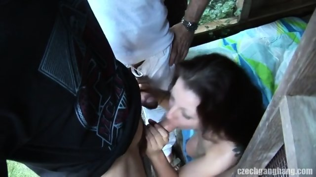 Amateur Whore Surrounded By Hard Dicks