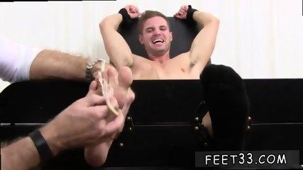 Gay twink foot cum modeling Ticklish Dane Back For More
