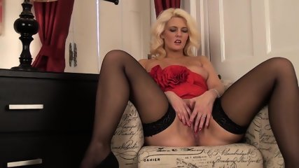 Solo By Blonde With Sexy Lingerie