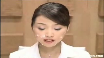 Japanese newscaster gets cummed on pt. 2 - scene 8