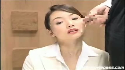 Japanese newscaster gets cummed on pt. 2 - scene 2