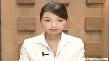 Japanese newscaster gets cummed on pt. 2 - scene 7