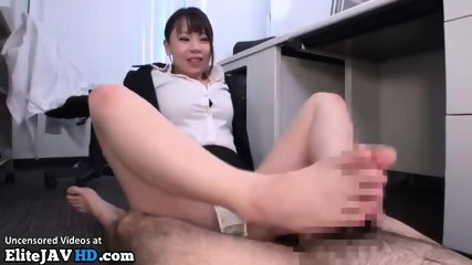 Japanese Secretary Foot Fetish Sex In Office