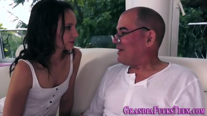 Teen riding horny grandpa