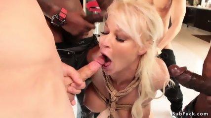 Big tits stunning Milf orgy banged