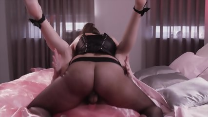 Footsie Girls Use Strapless Dildo - scene 11