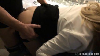 Busty Barmaid Enjoys Gang Bang - scene 4
