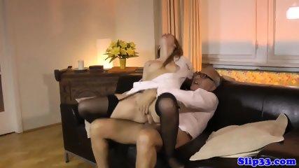 Teen Nurse Drilled By Senior In Threesome - scene 9