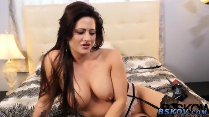 Solo cougar masturbates